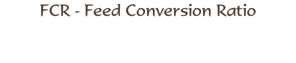 FCR - Feed Conversion Ratio